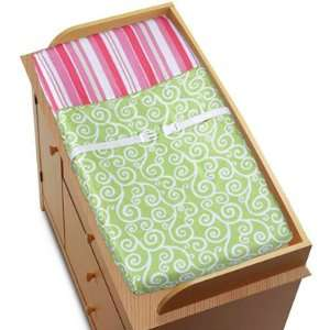 Pink and Green Olivia Girls Baby Changing Pad Cover Baby