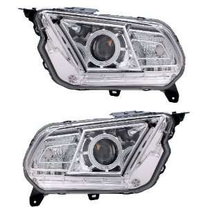 FORD MUSTANG 10 UP PROJECTOR HEADLIGHT HALO CHROME CLEAR