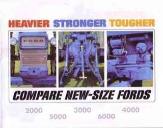 THE1965 66 FORD TRACTOR SALES BROCHURE MODEL 2000 6000