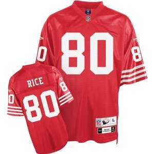 Jerry Rice #80 San Francisco 49ers NFL Retired Premier Jersey (Red