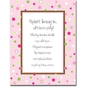 M. Middleton Blank Stock Letterhead   Moon Dots Pink