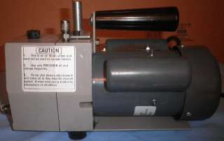 PRECISION VACUUM PUMP MODEL DD20/DD 20 (0.7 CFM) 5 MIC