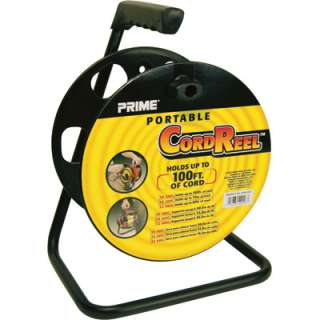 Prime Wire & Cable Portable Cord Reel w/Metal Stand #CR003000