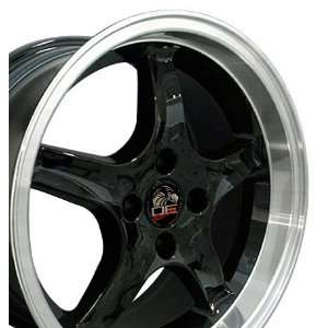 Cobra R 4 Lug Deep Dish Style Wheel with Machined Lip Fits Mustang (R