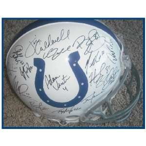 Indianapolis Colts Team Signed Riddell Helmet