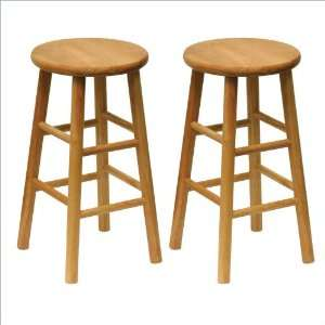 Winsome Wood Beveled Set Bar Stool (2 pack)