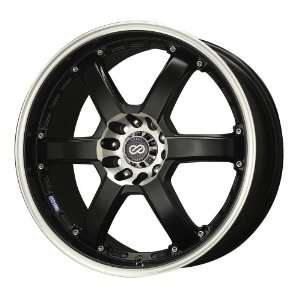 16x7 Enkei PKR (Matte Black w/ Machined Lip) Wheels/Rims 5x100/114.3