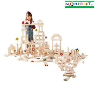 New Wooden Kids Wood Building Unit Blocks 110 Piece Set