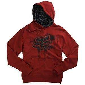 Fox Racing Network Hoody   Small/Red Automotive