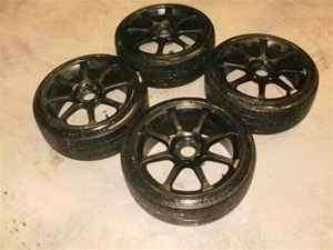Pontiac G5 Tire Wheel Set Flat Black Rims 205/40/17