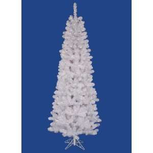 5.5 Pre Lit White Salem Pine Pencil Christmas Tree