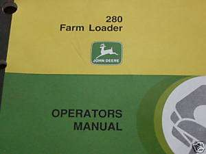 John Deere 280 Tractor Loader Operators Book 4955,4755