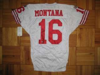 90s Authentic 49ers Joe Montana WILSON jersey 42 SIGNED PRO Line