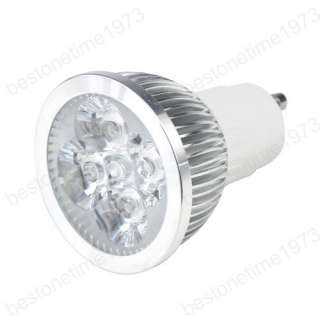 4W Gu10 4x1W High Power Cool White 4 LED Lamp Light Bulb 110V 220V 85
