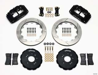 WILWOOD DISC BRAKE KIT,FRONT,89 98 NISSAN 240SX,13 ROTORS,BLACK