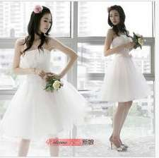 Short Formal Prom Party dress off white Gown Dress