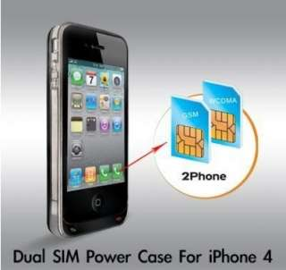 Rebel 2Phone Dual Sim Card Adapter for iPhone 4 UAE