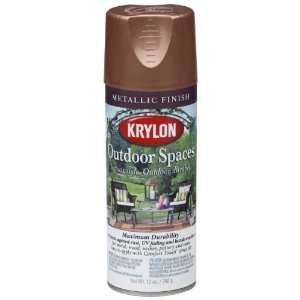 Outdoor Spaces Metallic Finish Aerosol Spray Paint, 11 Ounce, Copper