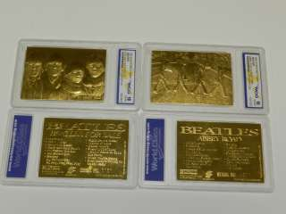 1996 SPORTSTIME 23KT GOLD BEATLES ABBEY ROAD & FOR SALE CARDS LIMITED