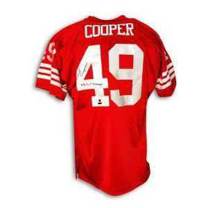 Earl Cooper Autographed San Francisco 49ers Throwback Jersey Inscribed