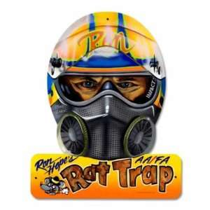Rat Trap Helmet Ron Nascar Drag Racing Metal Sign
