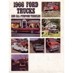 1966 FORD TRUCK Sales Brochure Literature Book Piece