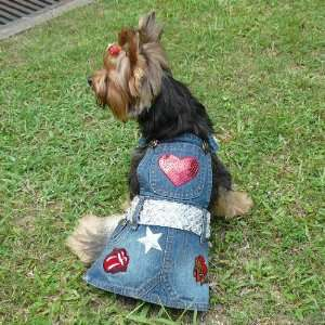 Dog Apparel   Geena Denim Dress   Color Denim, Size S