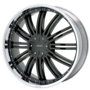 Greed 657 Jealousy Black and Chrome Wheel   (24x9.5 / 5x4