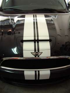 Mini Cooper center rally racing stripes decals graphics