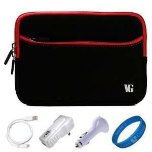 Red Trim Durable Scratch Resistant Neoprene Sleeve Protective Carrying