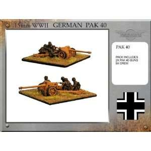 Forged in Battle (15mm WWII) German Pak 40 Guns Toys & Games