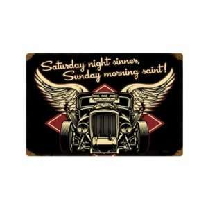 Metal Sign Hot Rod Car Shop Garage 12 X 18 Not Tin