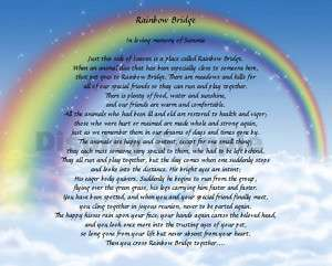 Rainbow Bridge Poem Personalized Memorial Loss Of Pet