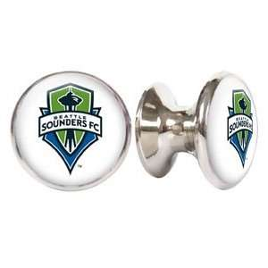 Seattle Sounders MLS Stainless Steel Cabinet Knob / Drawer