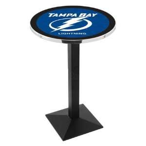 42 Tampa Bay Lightning Bar Height Pub Table   Square Base
