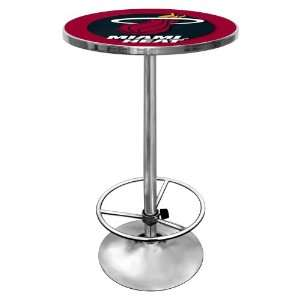 NBA Miami Heat Chrome Pub Table