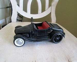 Nylint USA Metal Pressed Steel Black Ford Roadster Convertible Toy Car