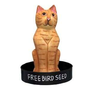 Bobbo Inc Bird Feeder Cat Orange Tabby BOBBO3870233 Patio