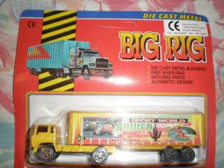 80S VINTAGE BIG RIG YELLOW TRUCK FREE WHEELING MIB