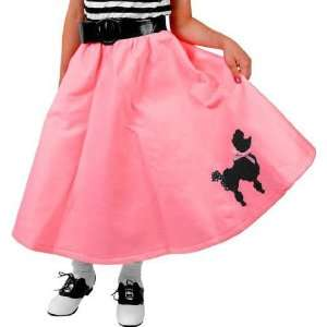 Childs Pink Poodle Skirt Costume (SizeLarge 10 12) Toys