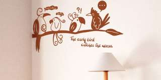 Dialog of Birds Vinyl Wall Decor Stickers Window Decals