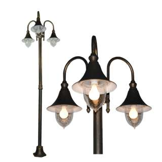 fixture new 98 deluxe golden black finished outdoor post light