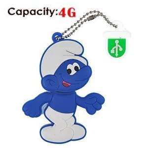 2G Rubber USB Flash Drive with Shape of Blue Smurfs Electronics