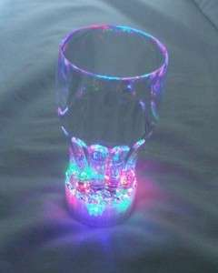 Color Flashing LED Light Up Drinking Glasses Blinking Party Supply