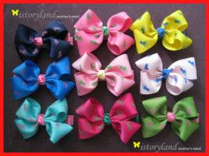 1Pcs BABY Girl HAIR BOWS BOUTIQUE PETITE Cute
