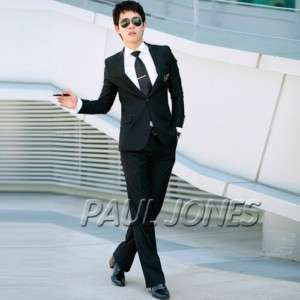 New Fashion Men stylish slim wedding Dress Blk 1Pcs