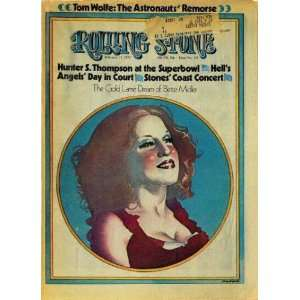 Rolling Stone Cover of Bette Midler / Rolling Stone Magazine Vol. 128