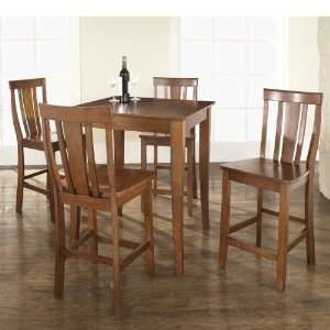Crosley Furniture KD520002CH   5 Piece Pub Dining Set with Cabriole