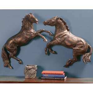Two Horses Clashing Wall Art