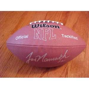 Joe Namath Hand Signed Autographed New York Jets Full Size NFL MVP